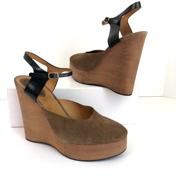 045a2a2788 Chloe Shoes | New Wedge Platform Sandal Ankle Strap Suede | Poshmark